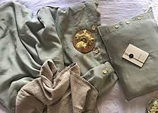 Úžitkový textil - Ľanové posteľné obliečky FARBA Mätová zelená (70x90cm 140x220 - Zelená mint zelená) - 12035954_