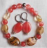 Sady šperkov - Kremeň - vodný melón - 12038613_