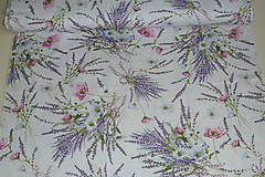 Textil - Látka Levanduľová kytica - 12037157_