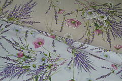 Textil - Látka Levanduľová kytica - 12037159_