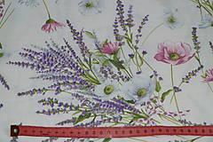 Textil - Látka Levanduľová kytica - 12037162_