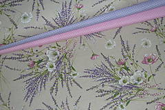 Textil - Látka Levanduľová kytica - 12037164_