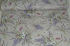 Textil - Látka Levanduľová kytica - 12037166_