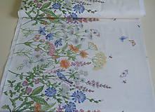 Textil - Látka Lúčne kvety bordúra - 12037205_