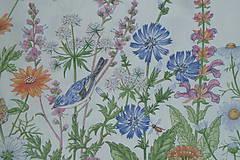 Textil - Látka Lúčne kvety bordúra - 12037207_