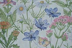 Textil - Látka Lúčne kvety bordúra - 12037209_