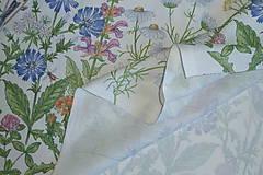 Textil - Látka Lúčne kvety bordúra - 12037210_