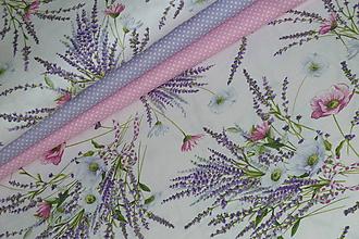 Textil - Látka Levanduľová kytica - 12037155_