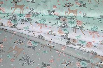 Textil - Látka Srnček a ruže - 12037774_