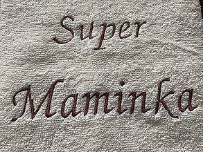 Úžitkový textil - Vyšívaný uterák Super Maminka - 12040499_