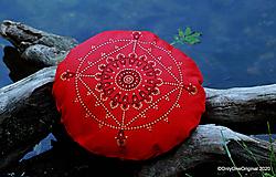 Úžitkový textil - Maľovaný ručne šitý meditačný vankúš DVIKARANI - 12037863_