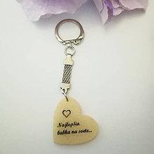"""Iné šperky - Kľúčenka """"Najlepšia babka... """" - 12040222_"""