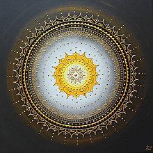 Obrazy - KVET ŠŤASTIA BIELO-ŽLTÝ (gold) 40 x 40 - 12039511_