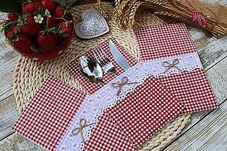 Úžitkový textil - Vidiecky obal na príbor - 12040033_