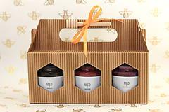 Potraviny - Darčekové balenie 3 ochutených medov - 12040124_