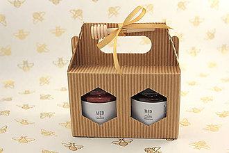 Potraviny - Darčekové balenie 2 ochutených medov - 12040112_