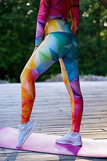 Nohavice - Funkčné legíny - rainbow - 12037257_