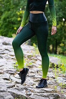 Nohavice - Funkčné legíny - army green - 12037423_
