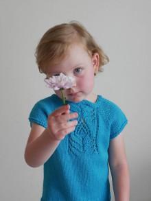 Detské oblečenie - Tyrkysový pletený pulóvrik - 12040717_
