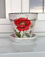 Nádoby - kvetináč vlčí mak - 12040815_