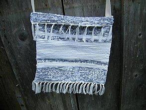 Iné tašky - Tkaná taška bielo-sivá 2 - 12040686_