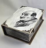Krabičky - Drevená kniha - Poirot - 12044306_