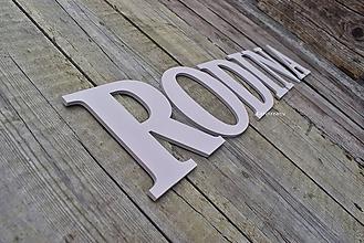 Tabuľky - nápis RODINA - 12041850_