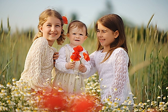 Detské oblečenie - Topoblúzka, Michaela, OEKO-TEX®, béžová (122/128) - 12044484_
