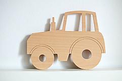 Detské doplnky - Detská drevená lampa - Traktor - 12041948_