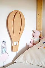 Svietidlá a sviečky - Detská drevená lampa Balón - 12041996_