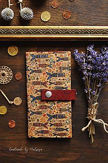 Peňaženky - Korková paňaženka Ryby - 12043318_