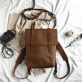 Batohy - Kožený batoh Colin (crazy tmavohnedý) - 12041147_