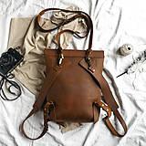 Batohy - Kožený batoh Colin (crazy tmavohnedý) - 12041148_