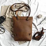 Batohy - Kožený batoh Colin (crazy tmavohnedý) - 12041149_