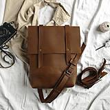Batohy - Kožený batoh Colin (crazy tmavohnedý) - 12041150_