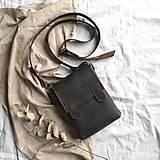 Iné tašky - Kožená mini-brašňa Travis - 12041226_