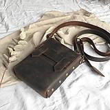 Iné tašky - Kožená mini-brašňa Travis - 12041228_