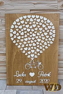 Obrazy - Svadobný strom - bike 120 ľudí - 12043487_