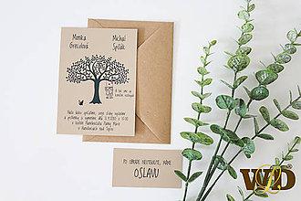 Papiernictvo - Svadobné oznámenia na prírodnom papieri - 12043654_