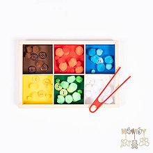 Hračky - Triediaci box farebný - 12042627_