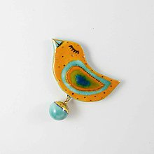 Odznaky/Brošne - TANA hand made jewellery - keramika/zlato - 12041834_