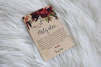 Darčeky pre svadobčanov - Magnetka ako poďakovanie pre rodičov - 12044042_