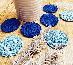 Úžitkový textil - Bella odlíčovacie tampóny - 7ks/sada modré - 12041318_