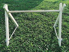 Hračky - drevená hrazdička pre bábätko,drevená detská hrazdička,hracia hrazdička,play gym,wooden baby gym,montessori,hrazda - 12041398_