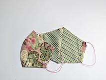 Rúška - Dámske dvojvrstvové textilné rúško HUDBA (11 cm) - 12042490_