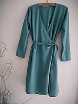 Šaty - Ľanové šaty na viazanie - 12042573_