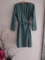 Šaty - Ľanové šaty na viazanie - 12042581_