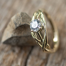 Prstene - Snubáčik v žltom zlate so zirkónom  - 12048043_
