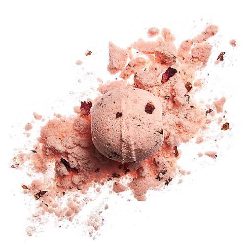 Drogéria - Romantická ruža - šumivá guľa - 12045844_