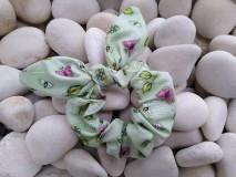 Ozdoby do vlasov - Scrunchies ušatá gumička motýle a kvety - 12047699_